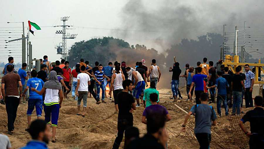 Asalto a la valla fronteriza en el este de Gaza