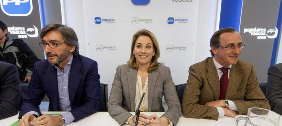 Iñaki Oyarzábal (exsecretario general del PP Vasco), Arantza Quiroga y Alfonso Alonso.