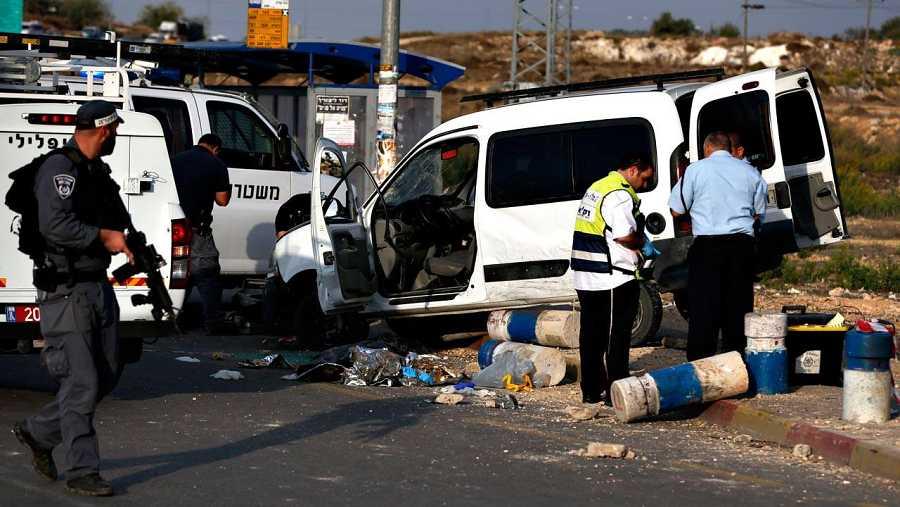 Ataque palestino contra dos soldados israelíes
