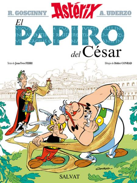 Portada de 'Astérix: El papiro del César'