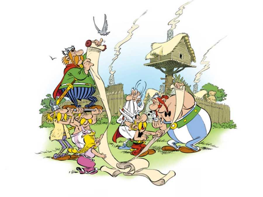 Ilustración de 'Astérix: El papiro del César'