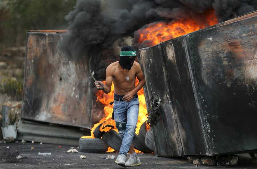 Un palestino, en los choques que han tenido lugar en Bet Ei, cerca de Ramala