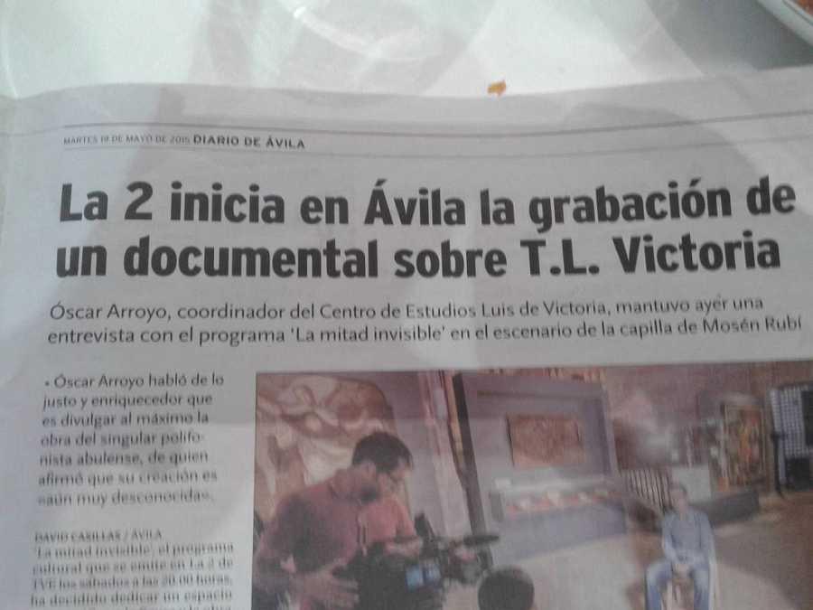 El trabajo de 'La mitad invisible', en la prensa local de Ávila