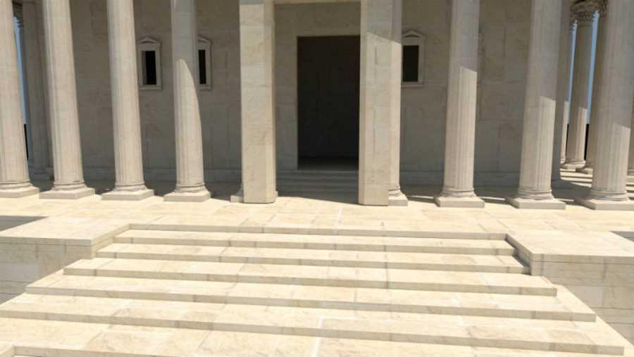 Una de las imágenes en 3D del templo de Bel del proyecto #NewPalmyra.