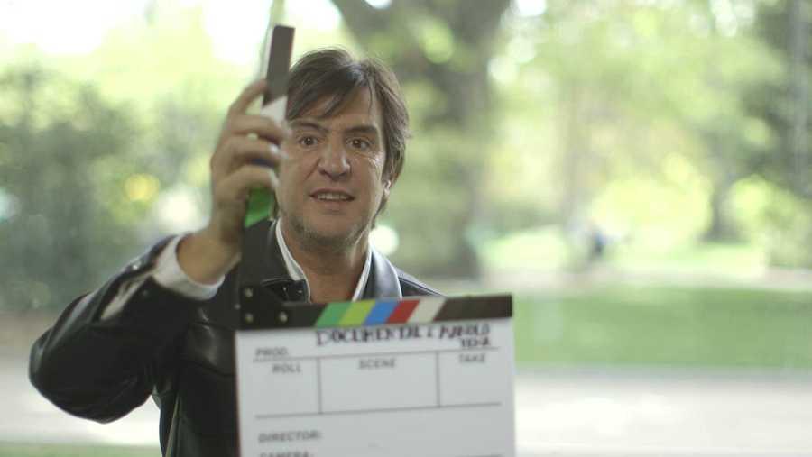 Manolo Tena, durante la grabación del documental para 'Imprescindibles' de La 2
