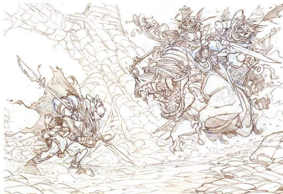 Lápices para una ilustración de 'Solo'