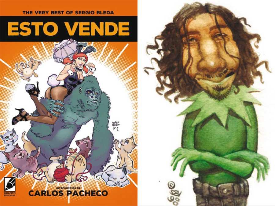 Portada de 'esto vende' y autorretrato de Sergio Bleda