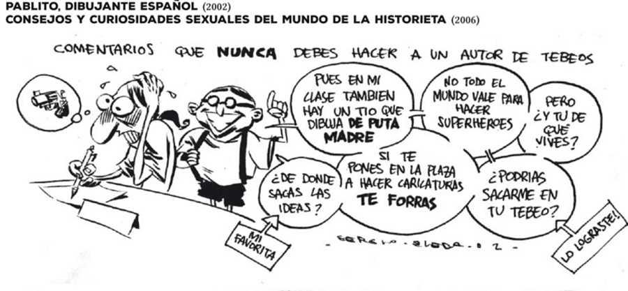 Viñeta de 'Pablito, dibujante español' (2002)