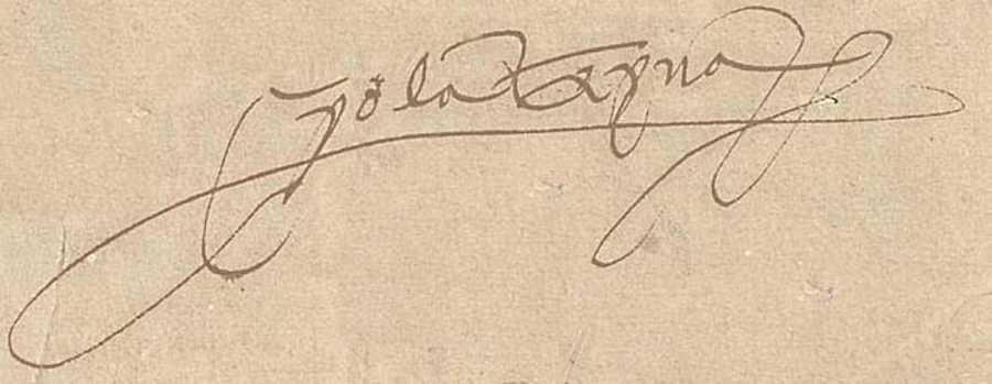 Firma de Isabel de Portugal