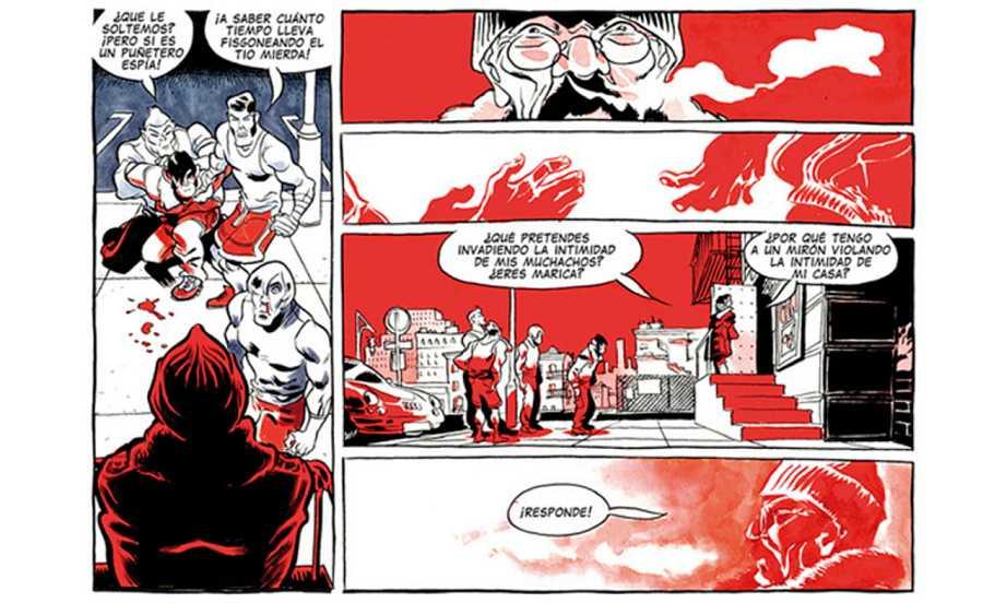 Página de 'El boxeador', de Rubén del Rincón