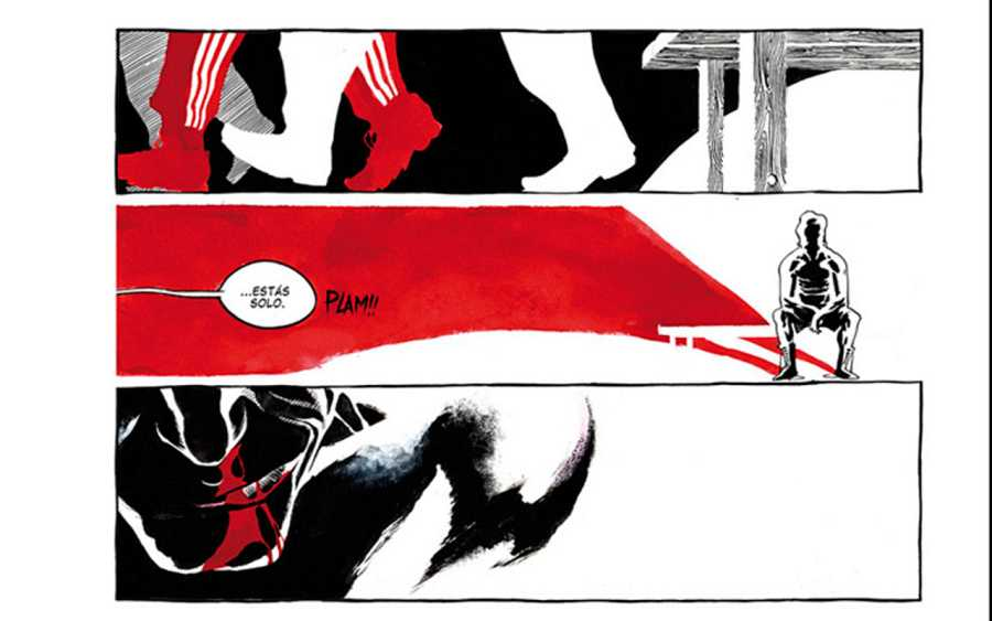 Página de 'El boxeador' de Man