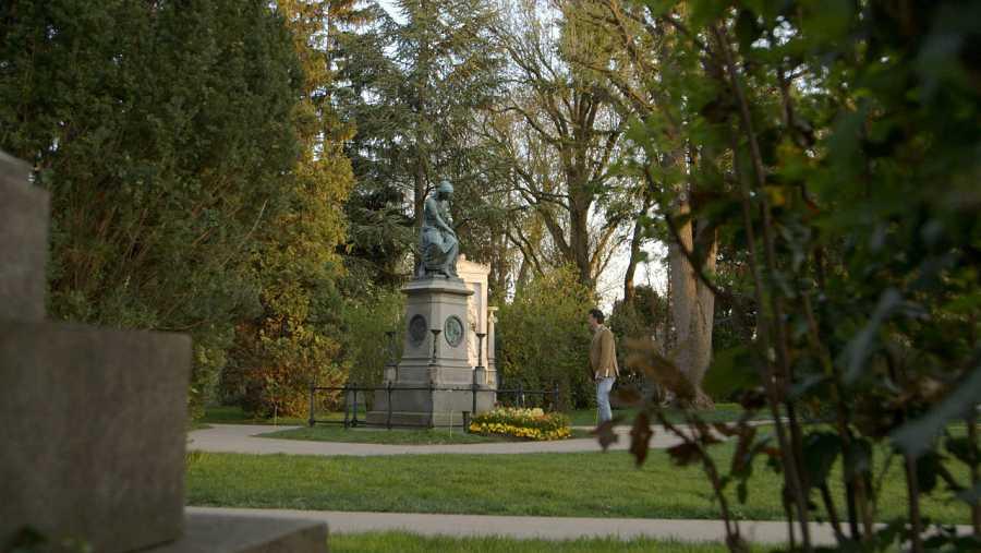 En el cementerio central de Viena intentamos encontrar la tumba de Mozart