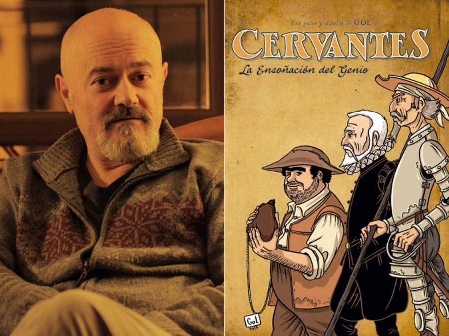 Gol (Miguel Gómez Andrea) y la portada de 'La ensoñación del genio'