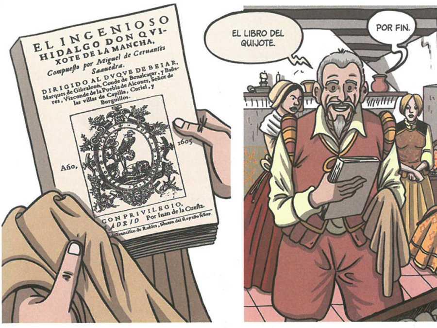 Viñetas de 'Cervantes. La ensoñación del genio'