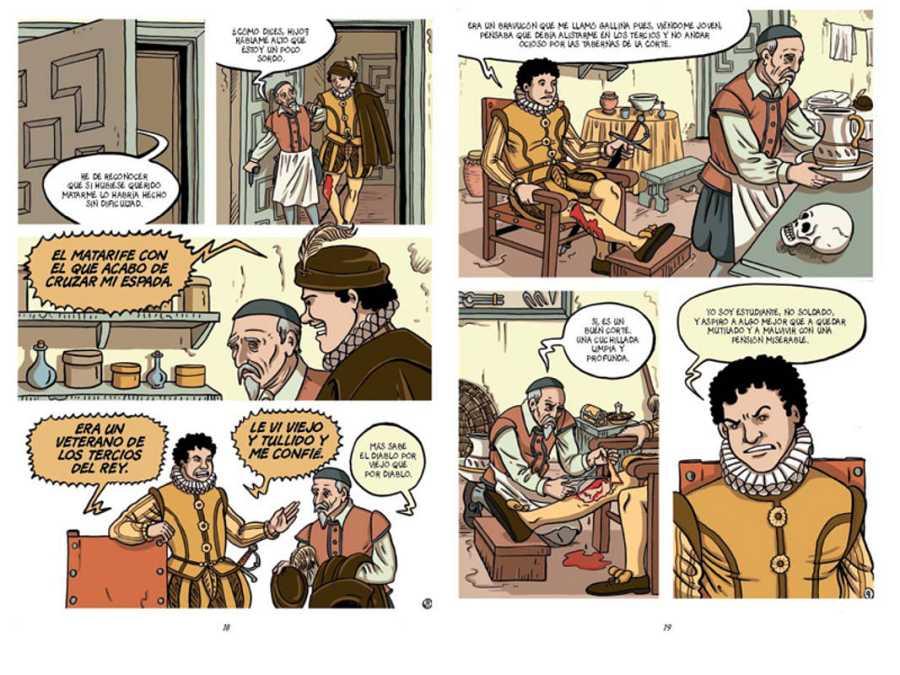 Páginas de 'Cervantes. La ensoñación del genio'