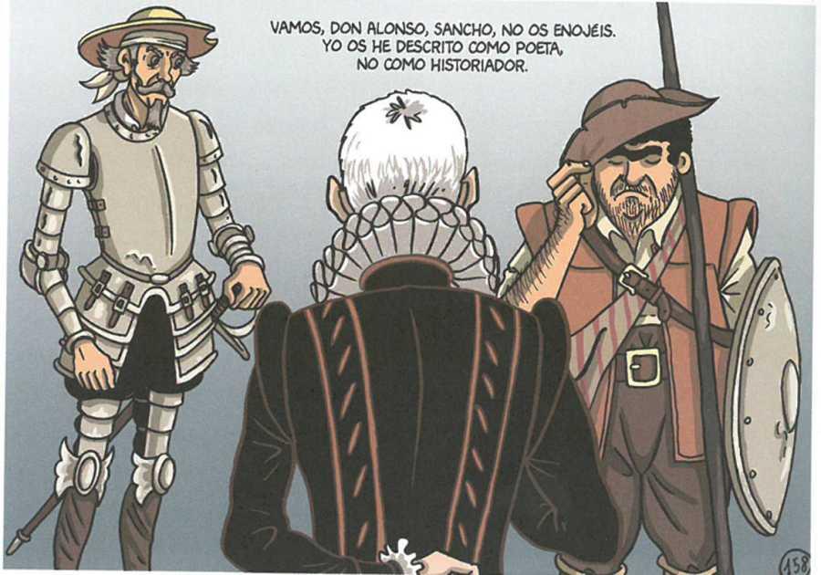 Viñeta de 'Cervantes: La ensoñación del genio'