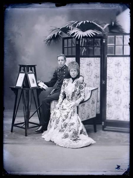 Foto tomada por Christian Franzen de la reina María Cristina con Alfonso XIII