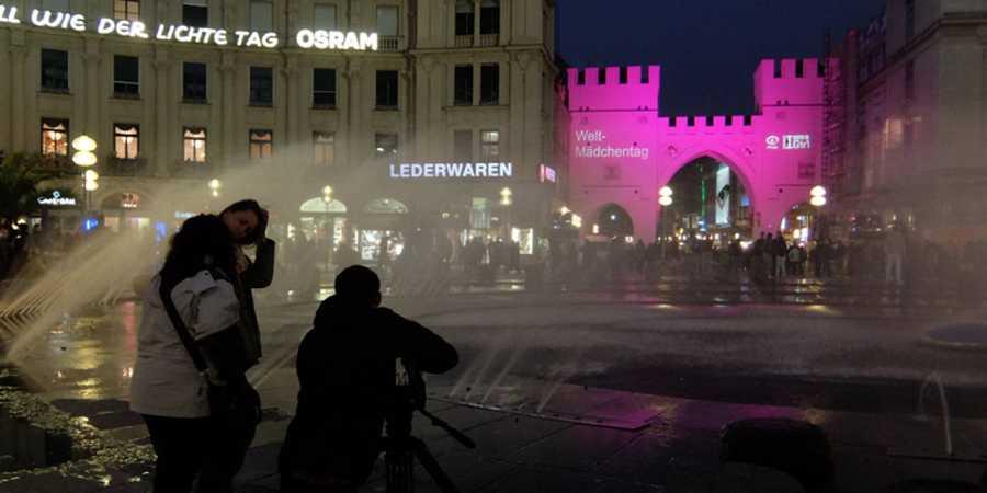 Rodaje en el centro de Munich