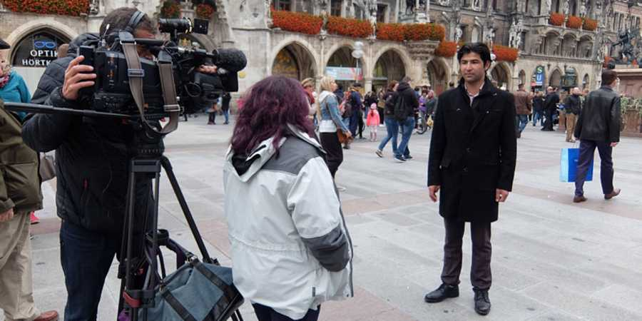 Entrevista con Hassan Ali Djan en Marienplatz