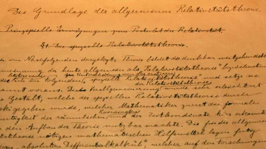 Resultado de imagen para manuscritos de einstein