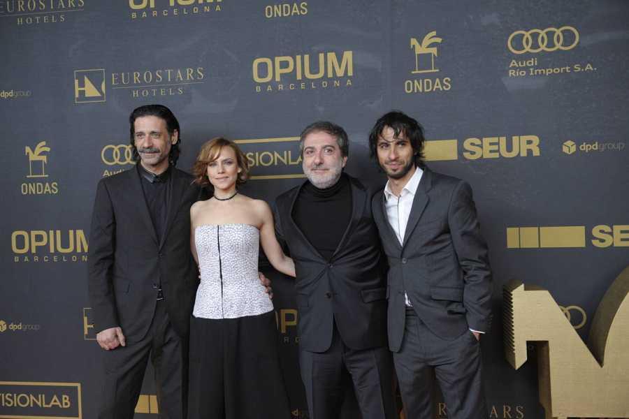 Nacho Fresneda, Aura Garrido, Javier Olivares y Marc Vigil