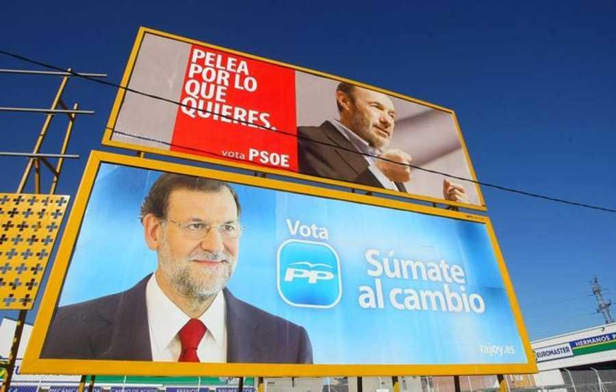 Vallas electorales de la campaña del PP y el PSOE en 2011