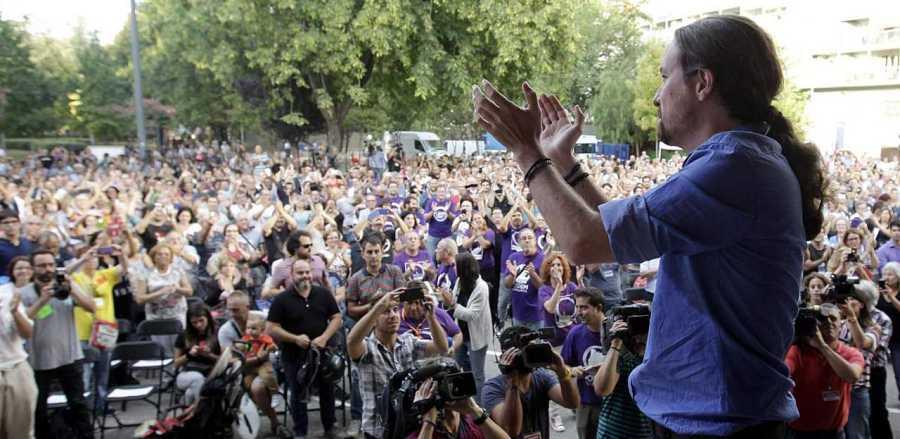 Los mítines funcionan como ritual de encuentro del candidato con los ciudadanos.