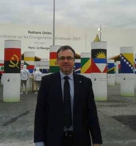 Carlos García Soto, en la COP21 de París.