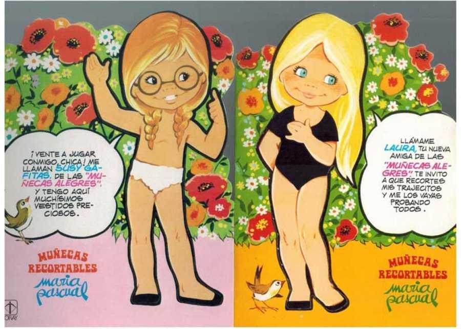 Muñecas recortables de María Pascual