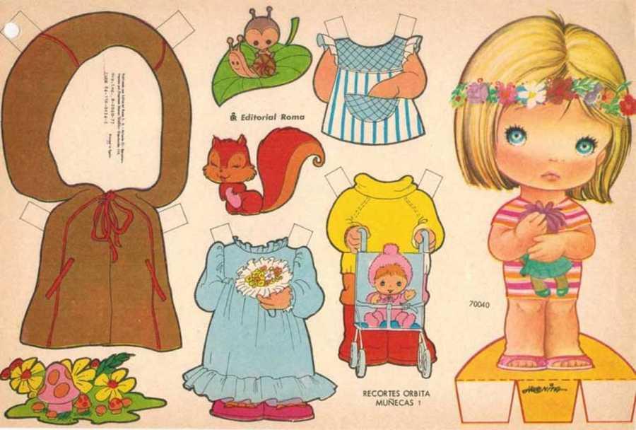 Vestidas De Papel Las Muñecas Recortables De Nuestra Niñez