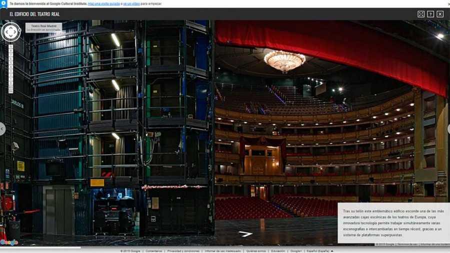 Imagen del interior del Teatro Real en Google