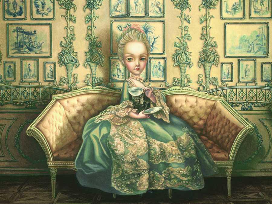 Fragmento de una ilustración de 'María Antonieta. Diario de una reina'