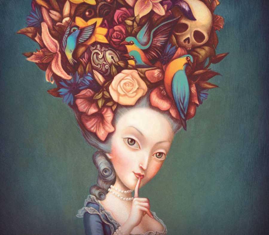 Fragmento de una ilustración de 'María Antonieta. Retrato de una reina'
