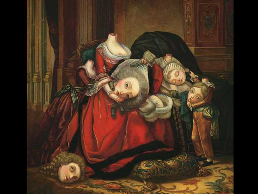 La familia real decapitada según Benjamín Lacombe