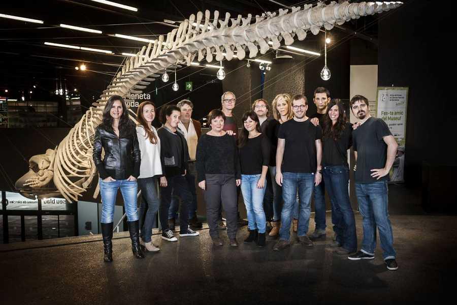 L'equip del programa animalades al Museu Blau de Barcelona