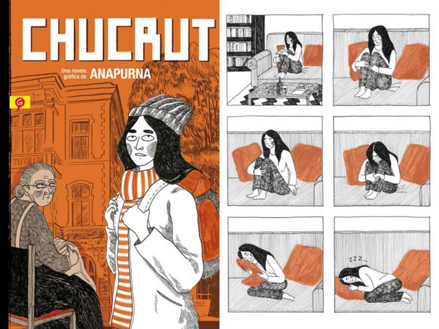 Portada y página de 'Chucrut'