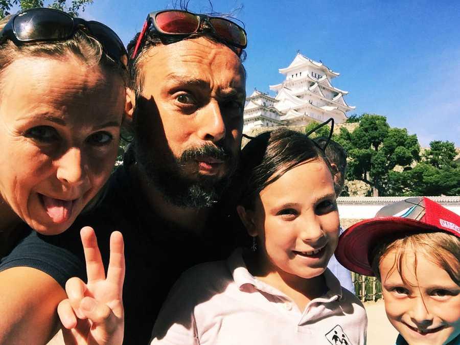 La familia en Himeji