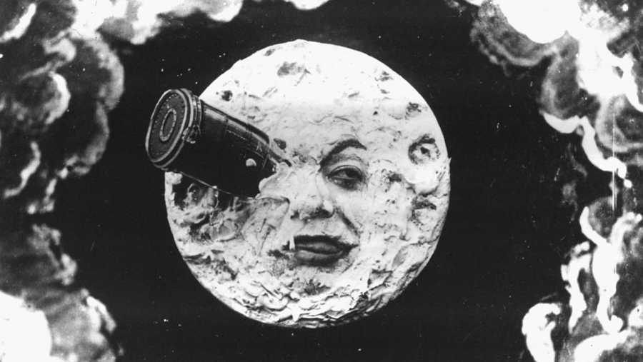 Escena de 'Viaje a la luna' ('Le voyage dans la Lune', 1902), de Mèliés