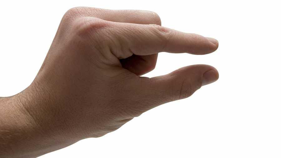 Una mano indicando la falta de motivación