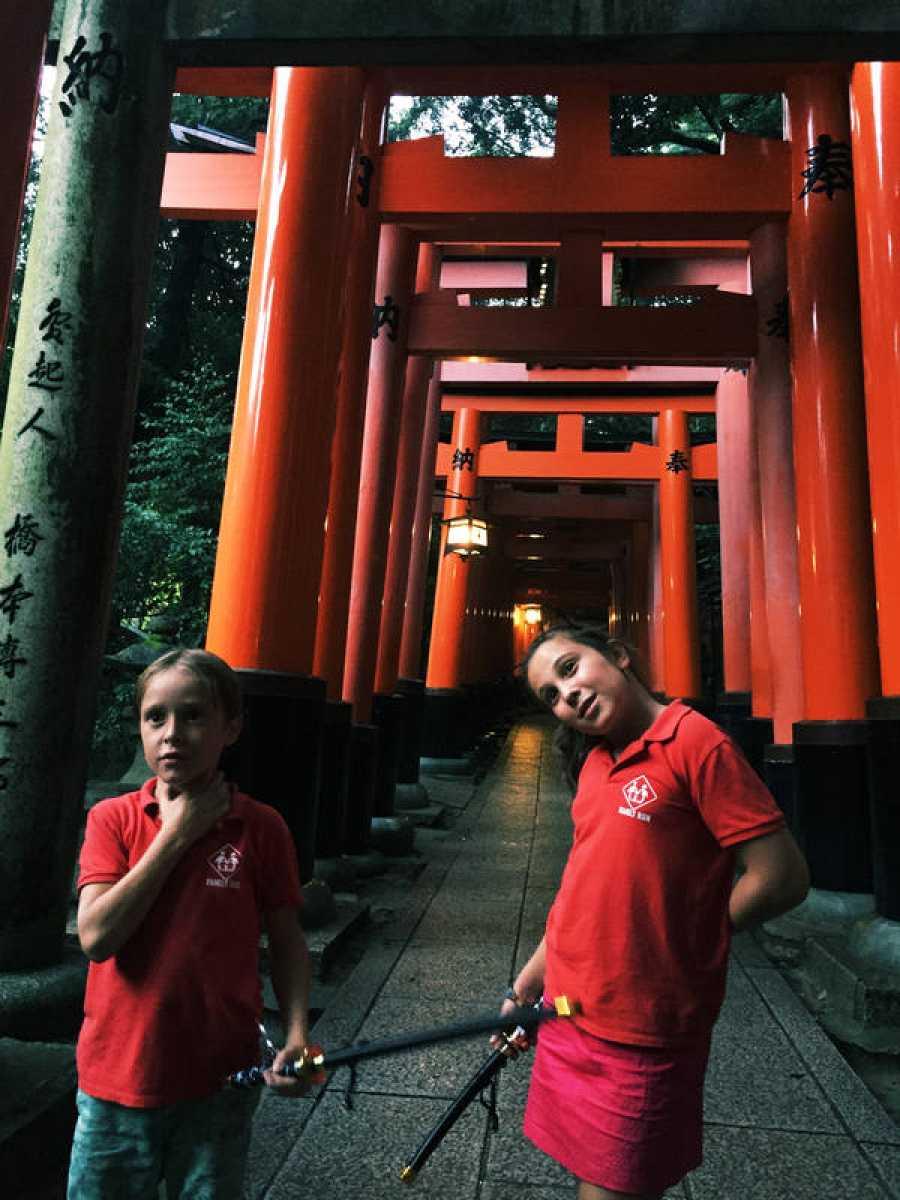 Mateo y Candela en Kioto