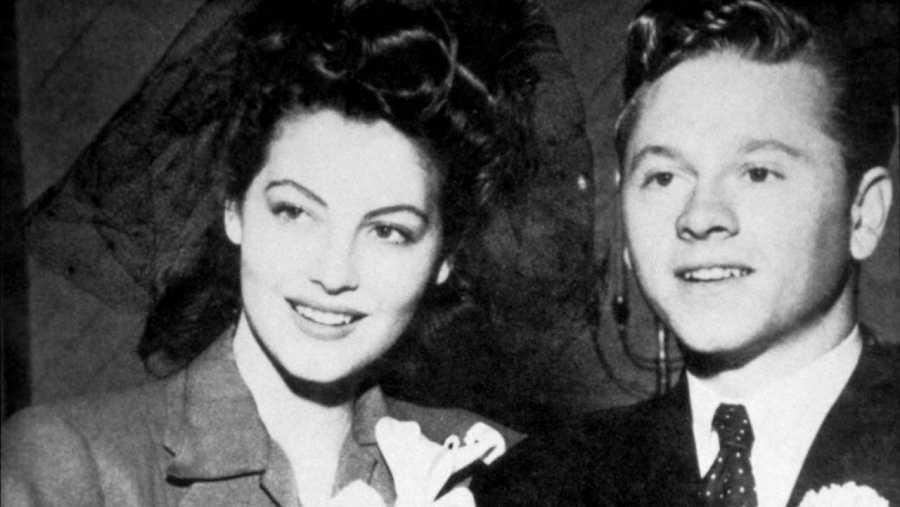 Ava Gardner junto a Mickey Rooney