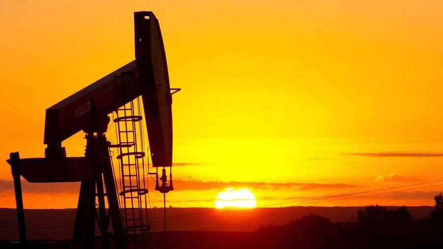 Un pozo de petróleo cerca de Tioga, en el estado de Dakota del Norte, en EE.UU.
