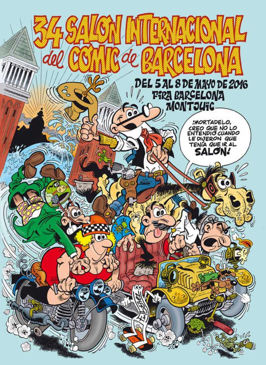 El cartel del 34 Salón del Cómic de Barcelona