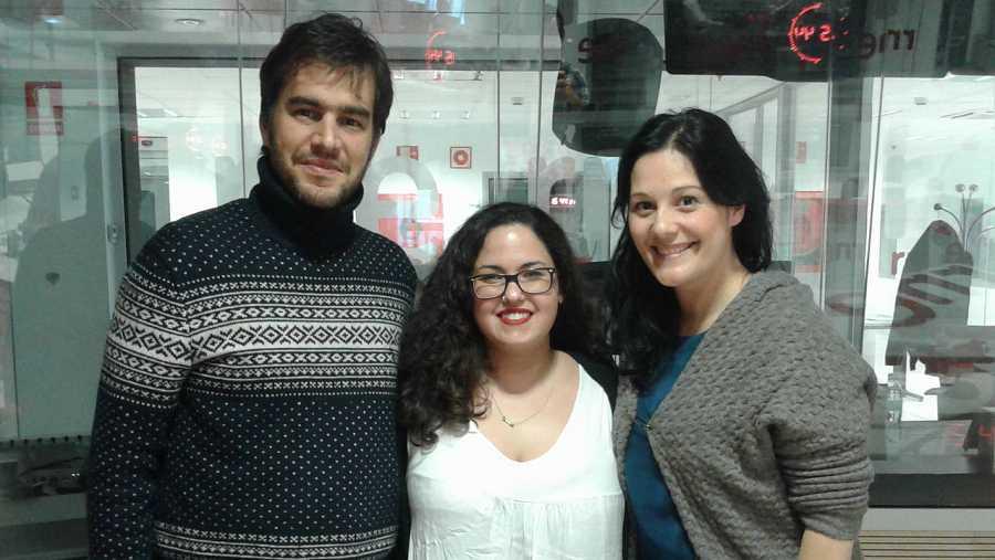 Víctor Velasco, Laura Galán y Laura Ortega