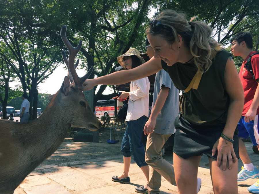 Sonia en Nara