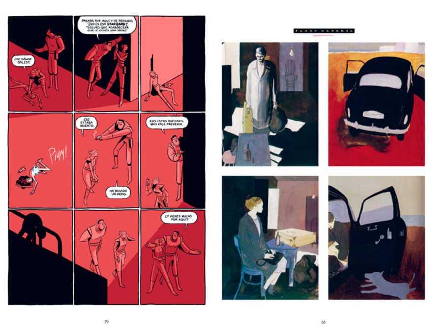 Páginas de Josep Busquet y Javi de Castro (Izda) y Raúl (Dcha)