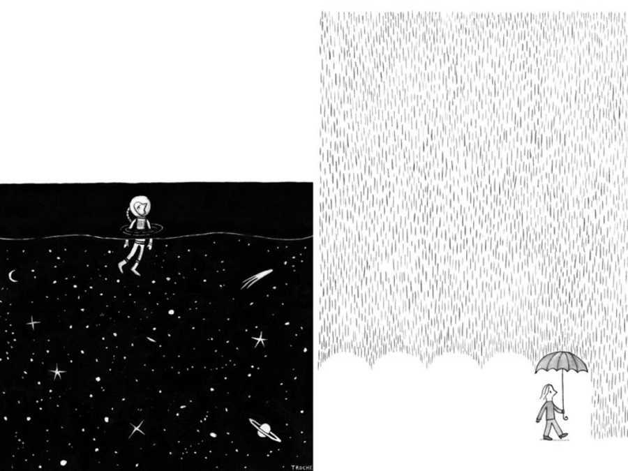 'El fin de universo' y 'Lluvia'