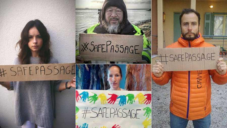 Ciudadanos de todo el mundo han subido a las redes sociales fotografías con el lema de la marcha.
