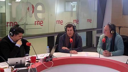 Horacio Tato Turano y Martín O'Connor, miembros de Les Luthiers, en 'Las mañanas de RNE'