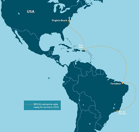 Trazado del cable submarino Brusa